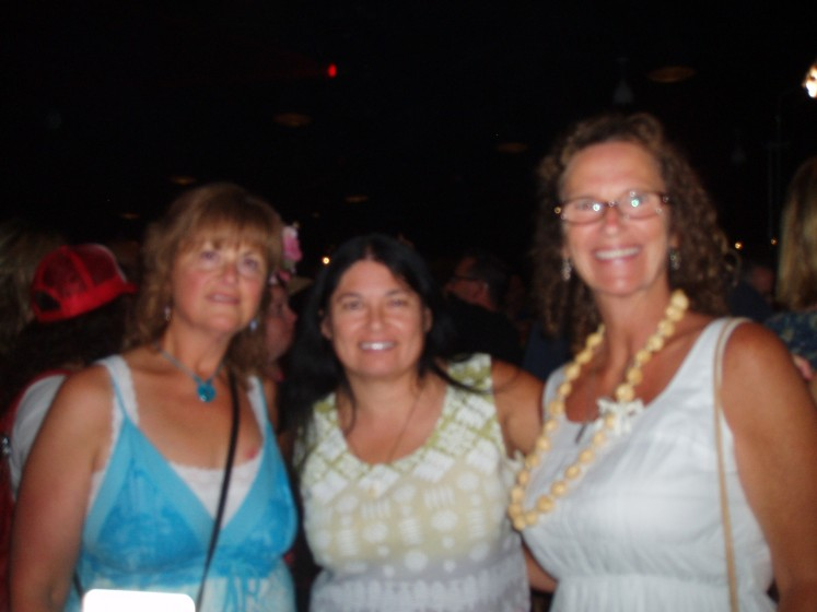 Michelle, Mona and Karen at the Beach Bar Bash