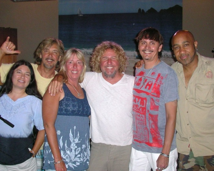 Sammy, the Wabos &amp; us in the studio! 6-27-2010