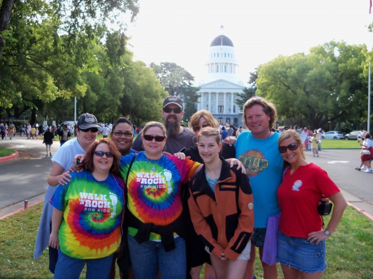 Redheads in front of the California state capital during Walk n Rock 2010