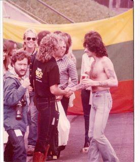 Day on the Green 1977...Sammy meets Bon Scott of AC/DC