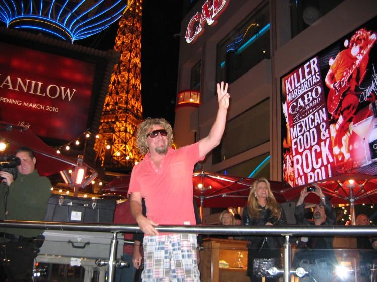 Sammy Hagar @ Las Vegas Cabo Wabo Cantina, December 04,2009 Grand Opening!!!