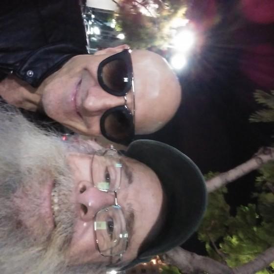 Kenny Aronoff and Santa Kevin