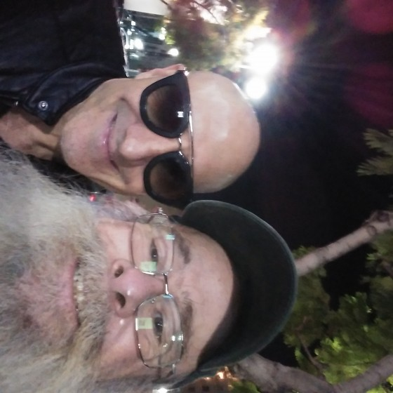 Kenny Aronoff and Santa Kevin