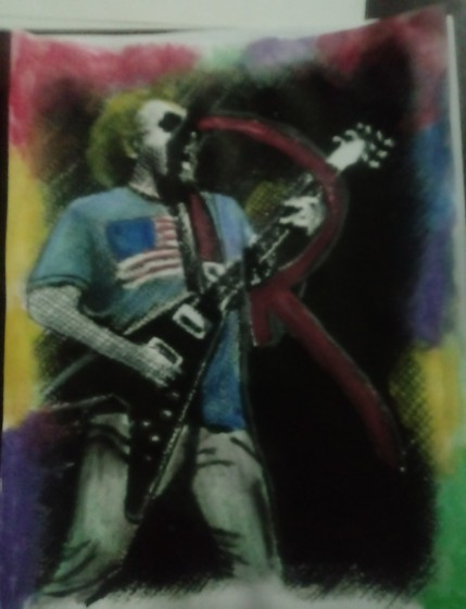 My watercolor painting of sammy