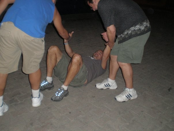 Geoff Getting Helped Back Up After Doing the Cabo Wabo outside of the Cantina at 2 AM.,