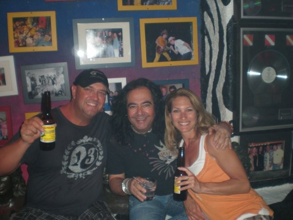 Me and Sharon with Jorge inside Cabo Wabo.