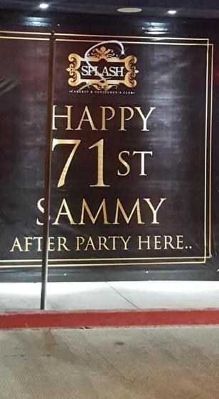 Sammys Bday Bach Cabo Wabo Night 3 Oct 13th 2018