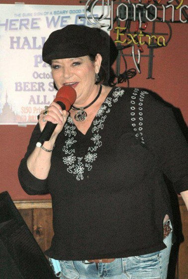 Jacqueline Rocking out at Southern Komfort Bar and Grill in Hohenwald,Tennessee.