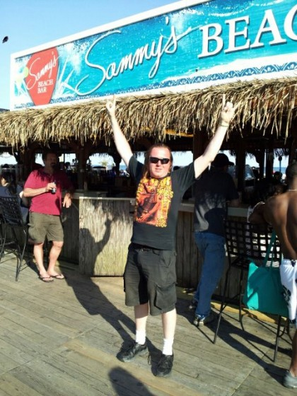 "(ME) Danny ""The WissRat"" Wissert @ SAMMY'S BEACH BAR in Atlantic City, New Jersey - Sunday, June 3rd 2012"