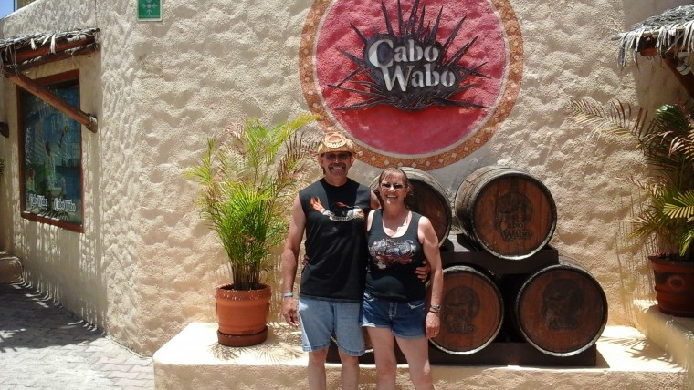M. & D. at Sammy's Cabo Wabo in Mexico