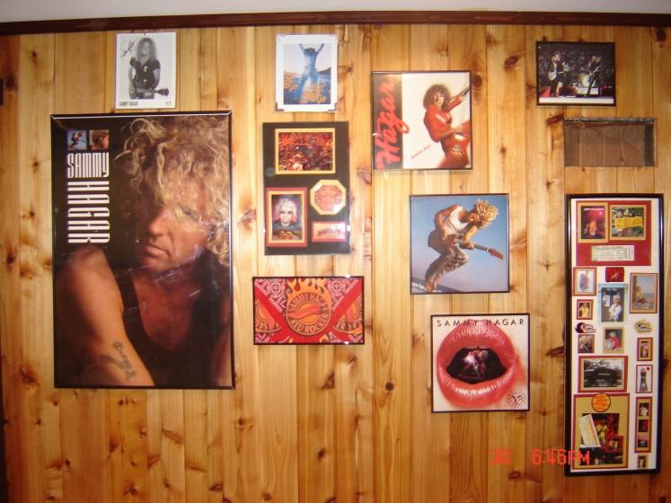 Sammy wall in basement bar