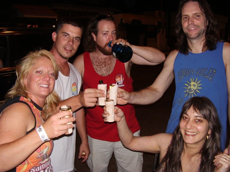 Cheers!!! On the streets of Cabo 07'