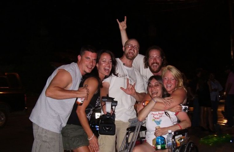 In line on the streets of Cabo '07! Say TEQUILA!!!