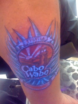 My CaboWabo UltraViolet Tattoo !!