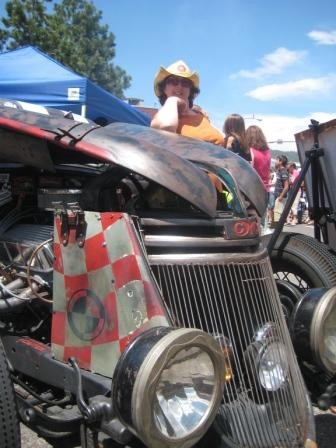 Linda with Rat Rod