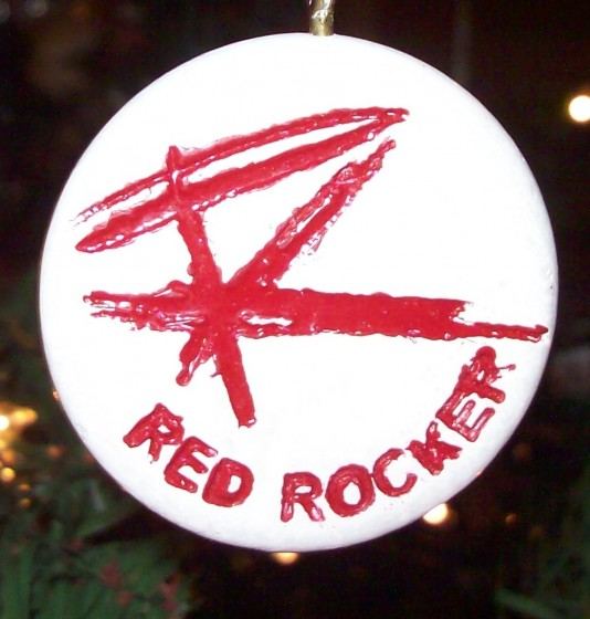 My Red Rocker Keychain/Christmas Ornament