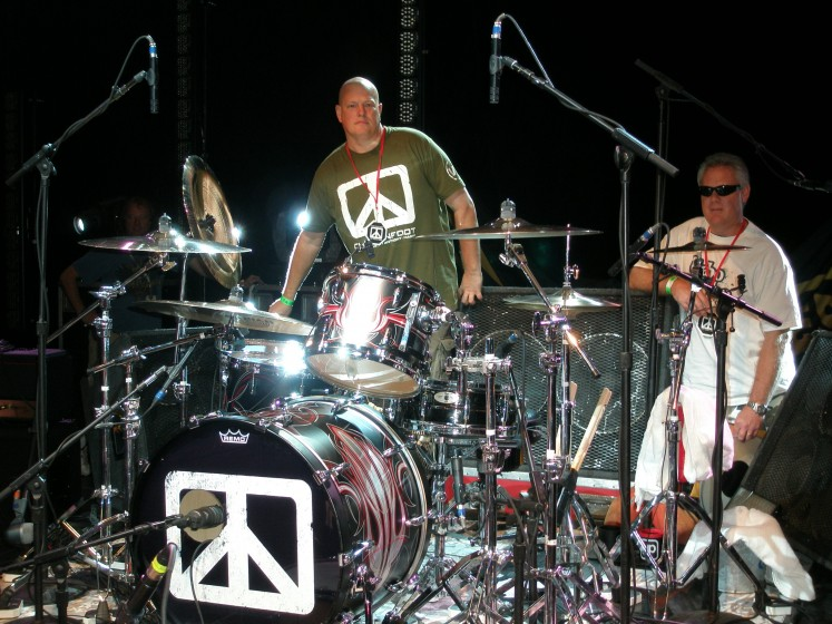 Clay and Chad's Drums Houston Chickenfoot 2009