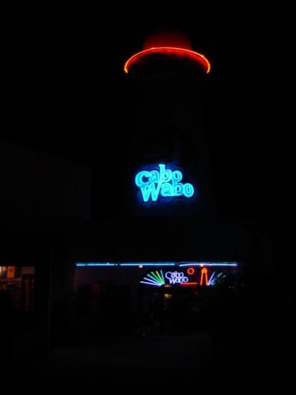 Cabo Wabo @ night