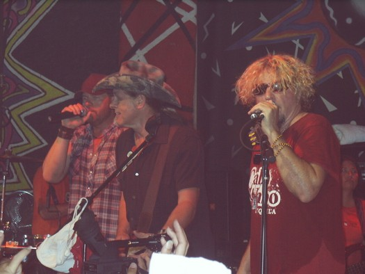 Toby Keith, Ted Nugent jammin with Sammy Bash'07