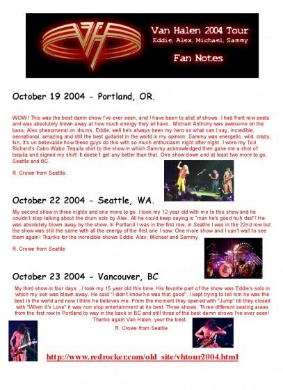 VH Tour 2004