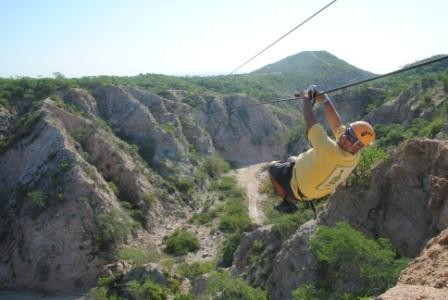 Zip Lining in Cabo