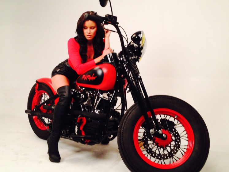 Casually, Custom chopper motorcycles and girls pity