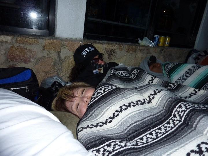 SLEEPING ON THE SIDEWALK!!!