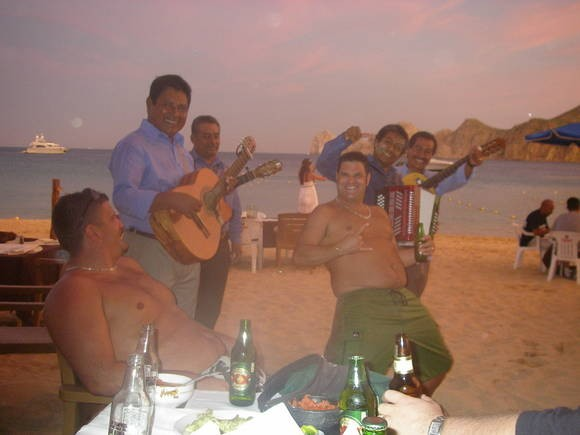 Jamming with the band in Cabo