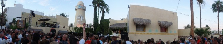 Panoramic Cabo wabo outdoor show
