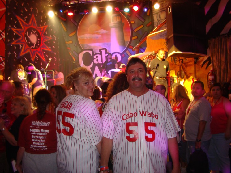Partying at the Cabo Wabo