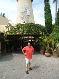 Infront of the Cabo Wabo Cantina 2012