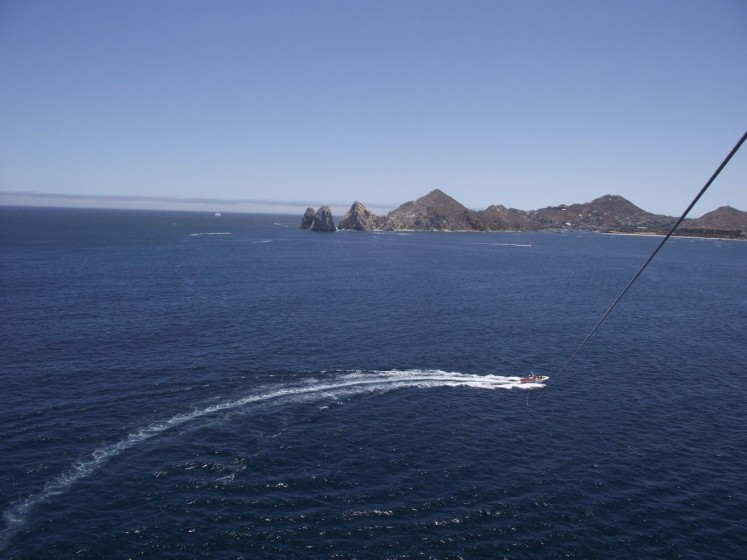 Parasailing in the Sea of Cortez