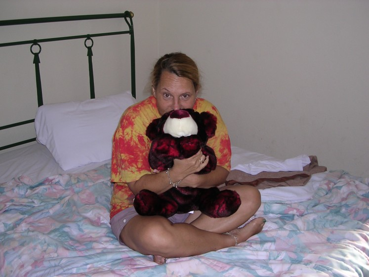 Gayle with Yearly Sammy Bear