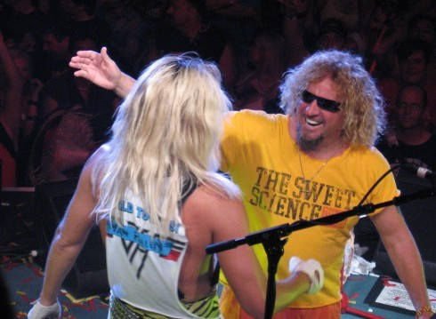 "Sammy with Atomic Punks' ""fake"" Dave"