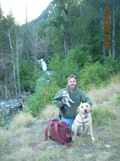 Wallowa Mountains with my dogs