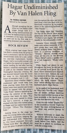 Hartford Courant Review 1999