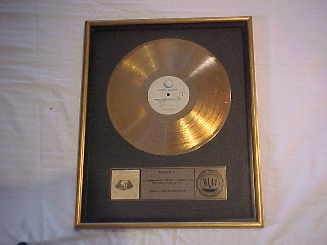 "Sammy Hagar ""Three Lock Box"" RIAA Gold Record Award"