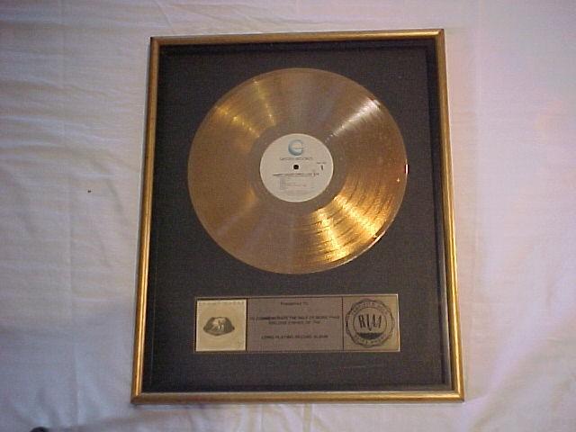 "Sammy Hagar ""Three Lock Box"" RIAA Gold Record Award"