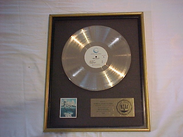 "Sammy Hagar ""VOA"" RIAA Gold Record Award"