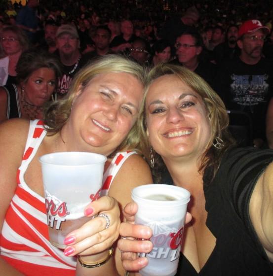 Old school rocker chicks celebrating the Sammy !