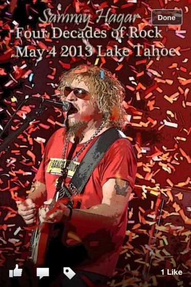 Sammy at Harrah's Tahoe 5/4/13