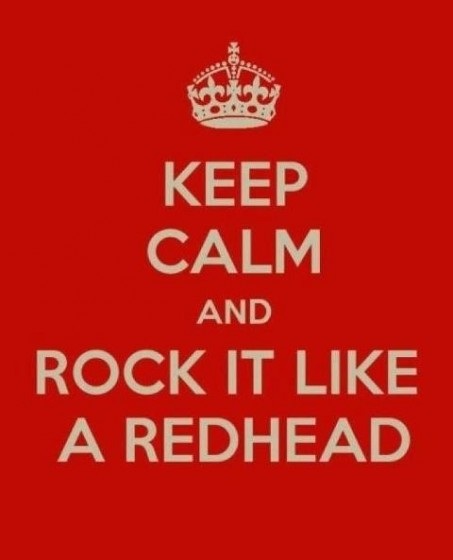 Rock out with your redhead out