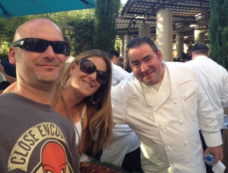 Got to meet Emeril before the concert. (Me, my Wife, & Emeril)