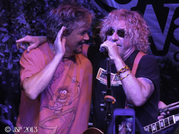 David Lauser and Sammy Hagar