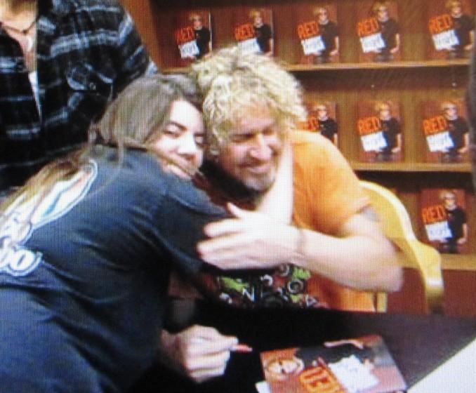 My Sammy Hagar Hug
