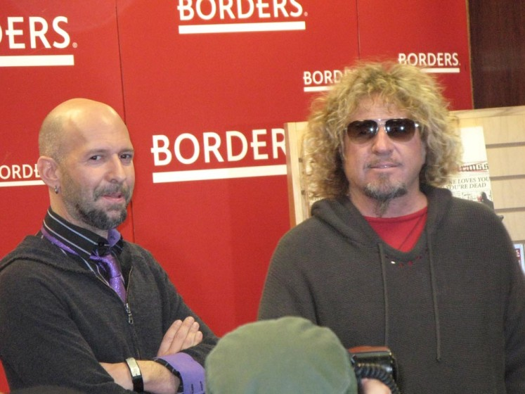Neil Strauss and Sammy Hagar