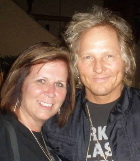 Sherry with Matt Sorum
