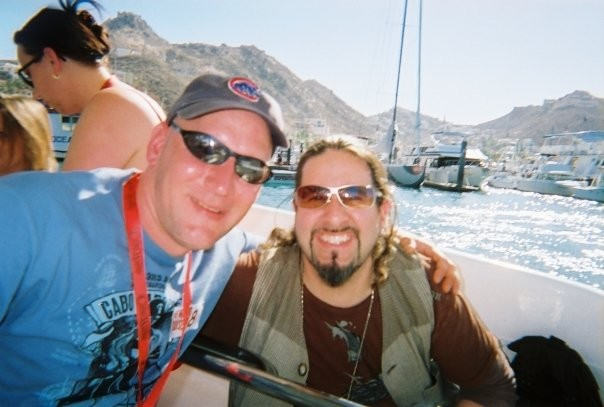 Me and Aaron on the 2008 Cabo Cruise