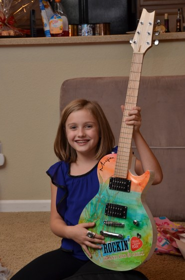Morgan's Birthday Guitar!