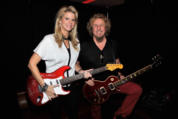 Sammy Hagar and wife Kari before his performance at Cabo Wabo Cantina